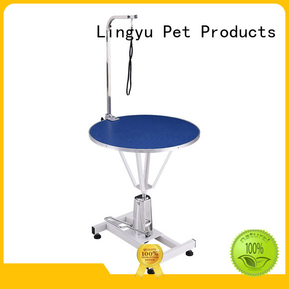 Lingyu round pet grooming table for busniess for pet hospital