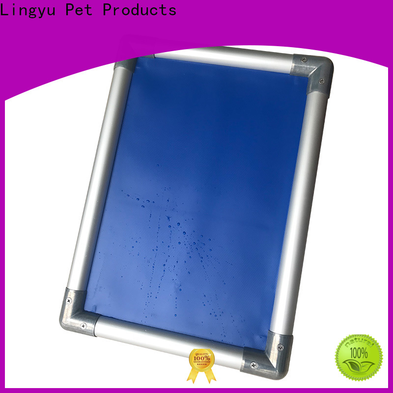Lingyu luxury elevated cooling dog bed supplier for pet hospital
