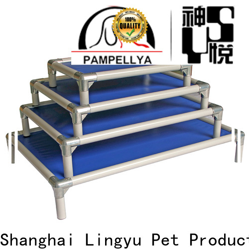 portable cot style raised pet bed supplier for pet hospital