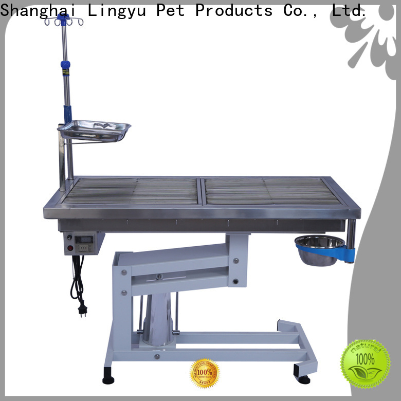 Lingyu tooth washing veterinary operating table factory for sale