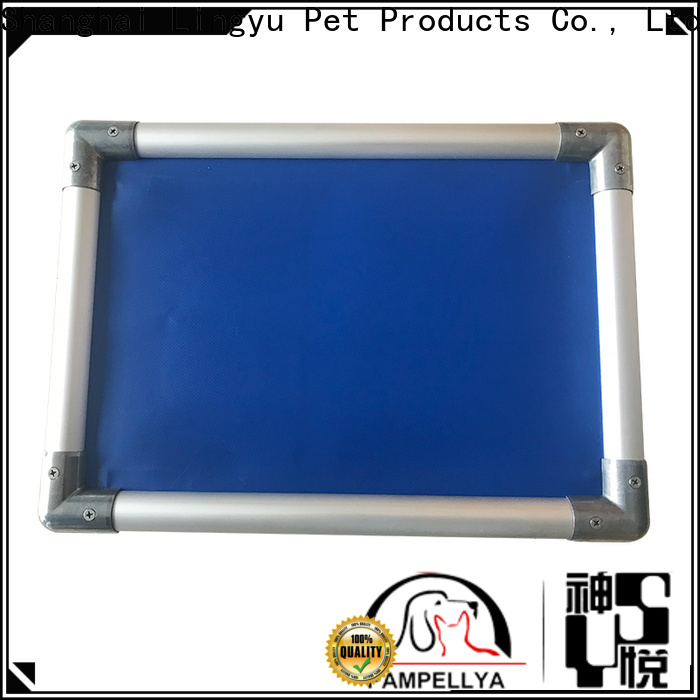 Lingyu custom elevated pet cot company for kennel