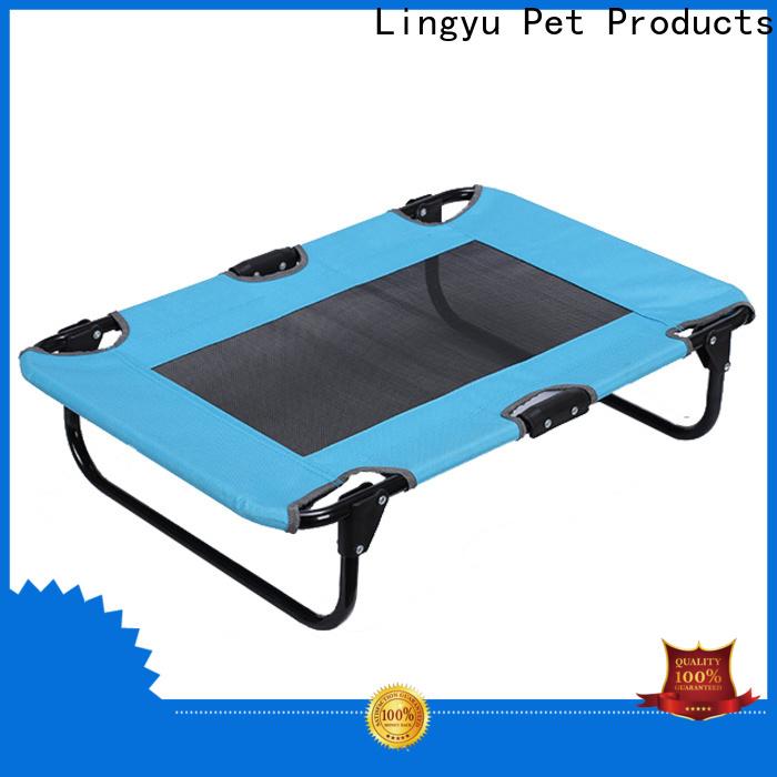 Lingyu raised dog bed supplier for pet hospital