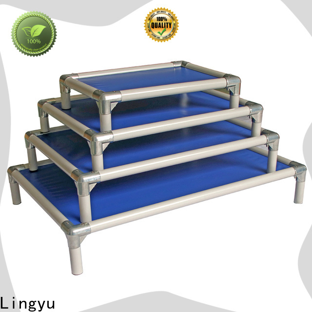 Lingyu nice raised dog bed cooling bed for pet