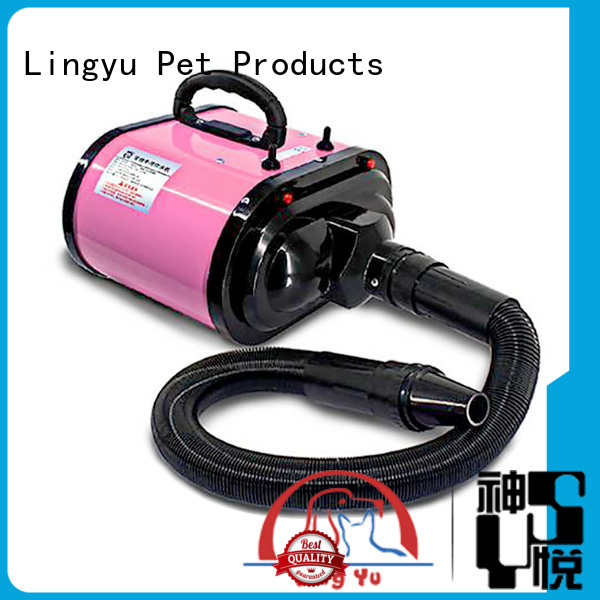 Lingyu double motor pet dryer manufacturer for dogs