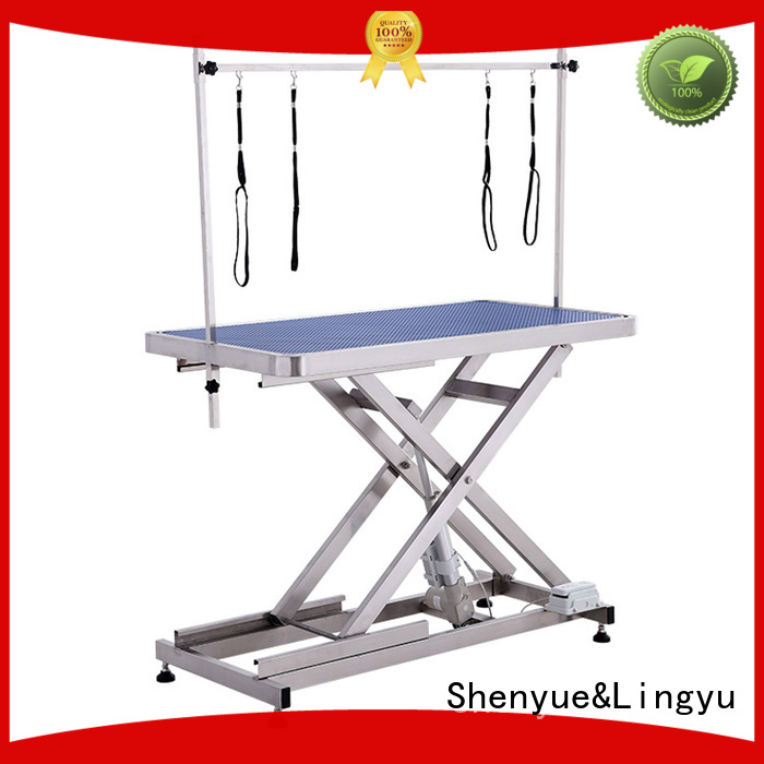 lift hydraulic grooming table manufacturer for pet hospital