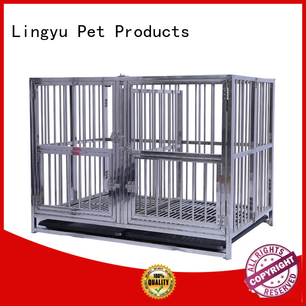 Lingyu design dog crate with movable tray for home