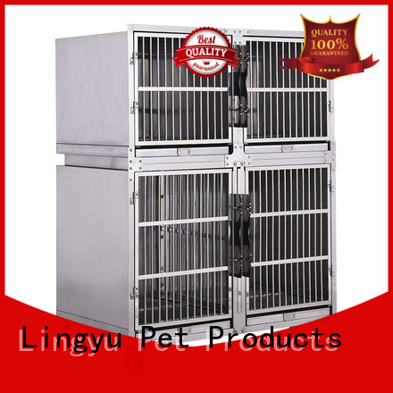 Stackable dog kennel cage strong stainless steel dog cage veterinary dog cage HC-123