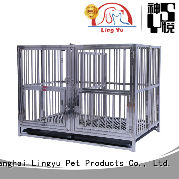Shenyue&Lingyu metal pet cage with bottom plastic tray for sale
