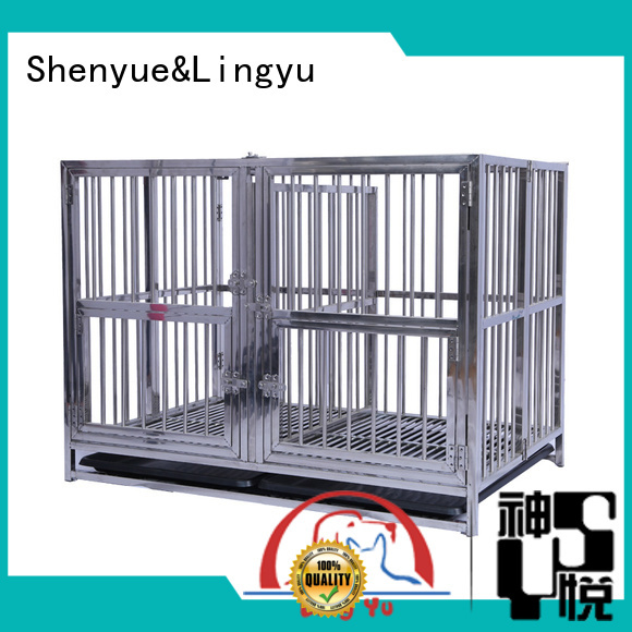 Shenyue&Lingyu dog kennel with bottom plastic tray for sale