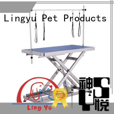 Lingyu best hydraulic grooming table supplier for pet hospital