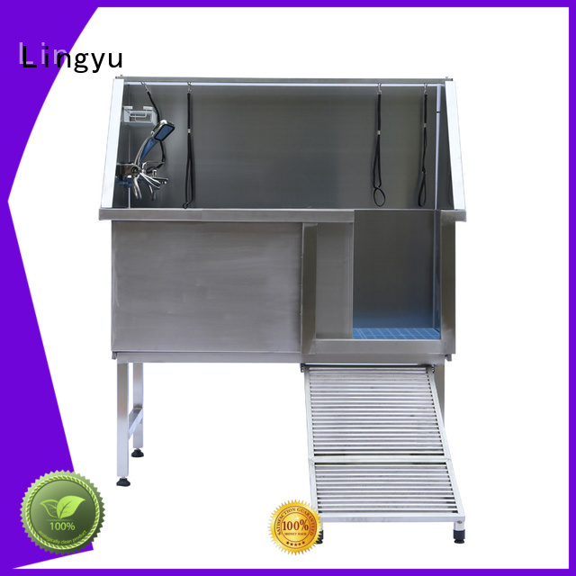 Lingyu grooming tub with hand control for pet hospital