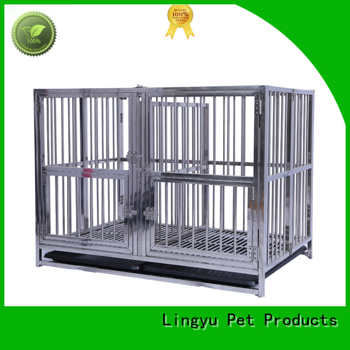 Lingyu pet cage with movable tray for pets