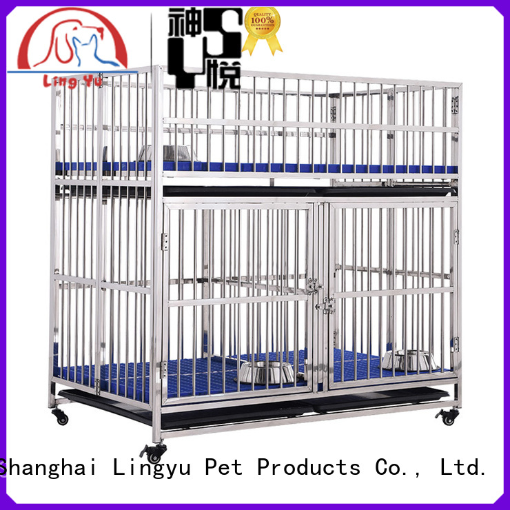 veterinary dog cage with movable tray for home