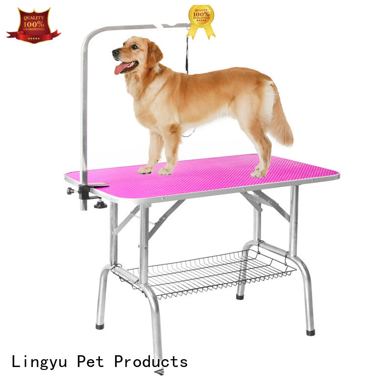 Lingyu multifuction hydraulic grooming table with led lightening for sale