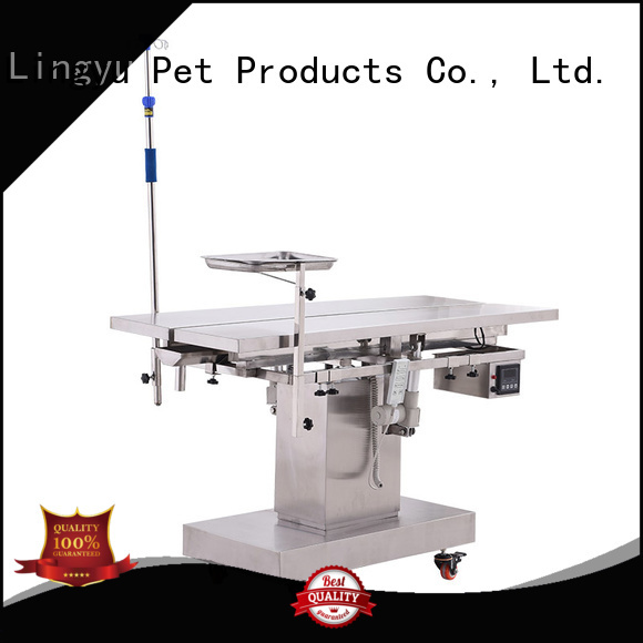 Lingyu veterinary surgery table supplier for pet hospital