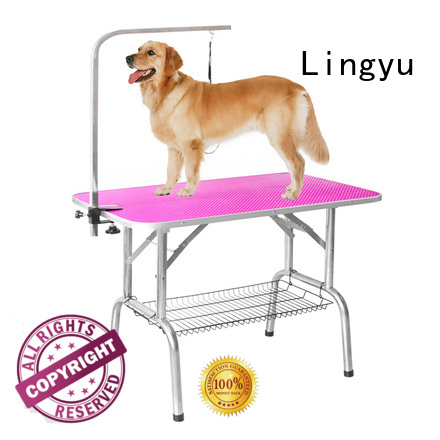 Lingyu grooming table factory for pet