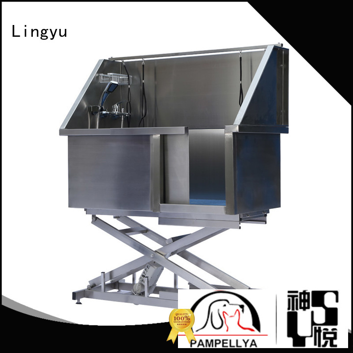 Lingyu best grooming tub with food control for shower