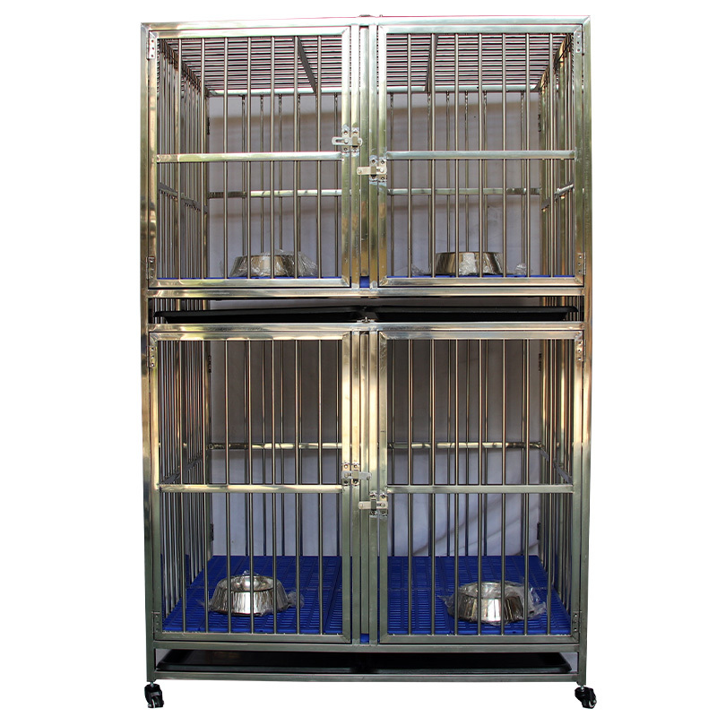 Long service life folding multi-layer stainless steel pet dog cage ZHC-104