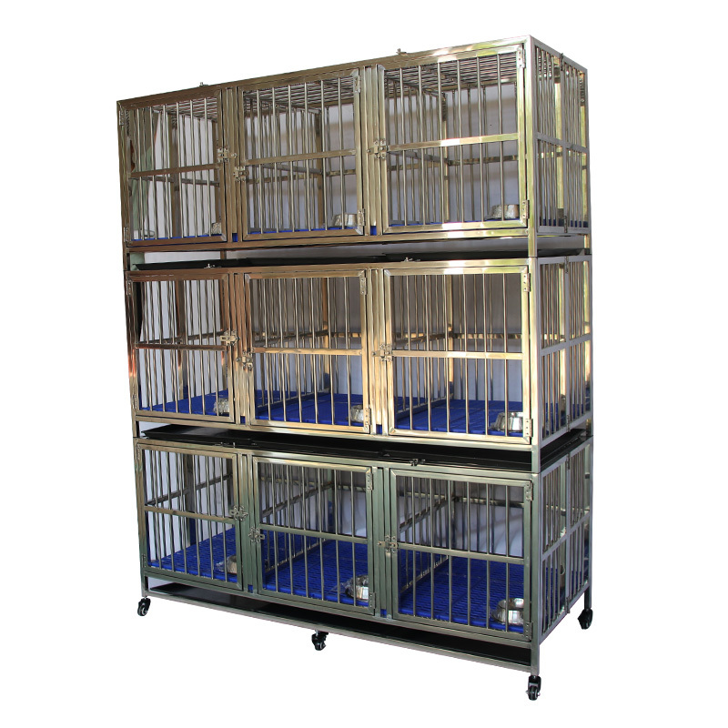 Folding does not require installation stainless steel pet nine door cage ZHC-150