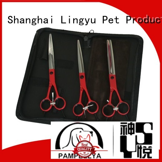 Lingyu dog grooming scissors kits for pet hospital