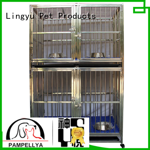 Shenyue&Lingyu strong pet cage with movable tray for pet hospital