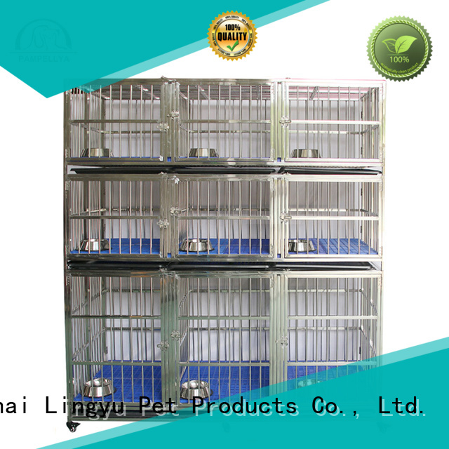 Lingyu dog kennel for busniess for pet hospital
