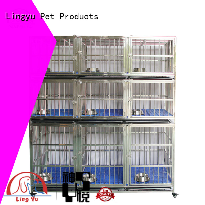 design dog crate with bottom plastic tray for pets