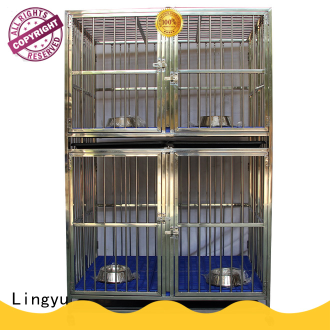 Lingyu latest dog cage factory for home